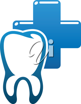Dentistry medicine icon, dental clinic and tooth health design. Teeth and implant, protected by shield with cross, heartbeat line and shining star isolated symbol. Health care vector design