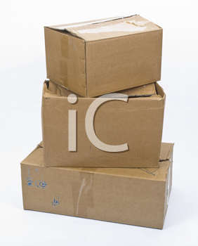 Royalty Free Photo of a Stack of Cardboard Boxes