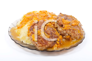 Cutlets in sauce with potato