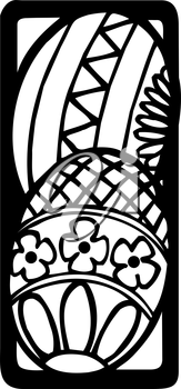 Royalty Free Clipart Image of Two Easter Eggs