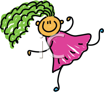 Royalty Free Clipart Image of a Girl