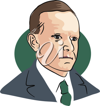 Royalty Free Clipart Image of Calvin Coolidge