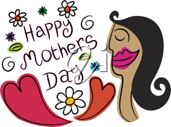 Royalty Free Clipart Image of a Mother's Day Design