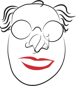 Royalty Free Clipart Image of a Nutty Professor