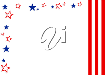 Royalty Free Clipart Image of a Stars and Stripes Background