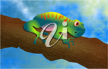 Royalty Free Clipart Image of a Tree Frog