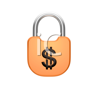 Royalty Free Clipart Image of a Locked Padlock