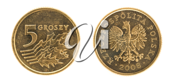 5 grosz - money of Poland. Obverse and reverse