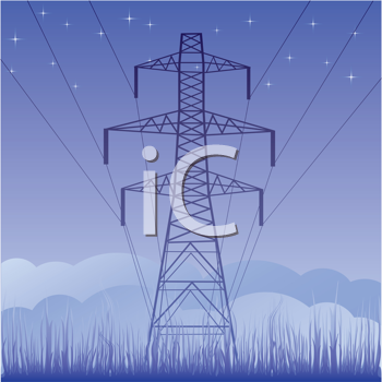 Royalty Free Clipart Image of a Tower Line