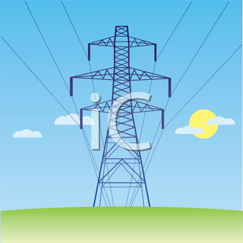 Royalty Free Clipart Image of a Hydro Tower