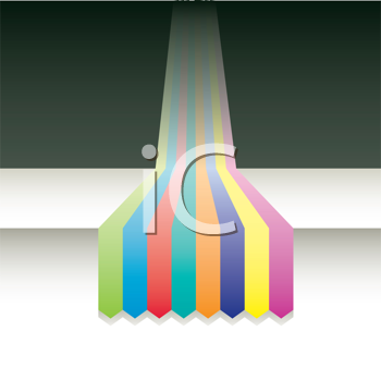 Royalty Free Clipart Image of Colourful Bands