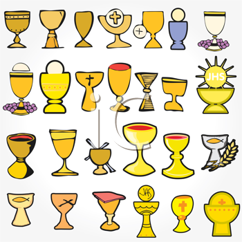 Royalty Free Clipart Image of Communion Elements