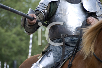 Royalty Free Photo of a Knight's Armour on a Horse
