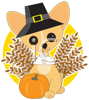 Royalty Free Clipart Image of a Chihuahua
