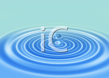 Royalty Free Clipart Image of a Ripple
