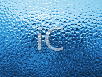 natural water drops on window glass background
