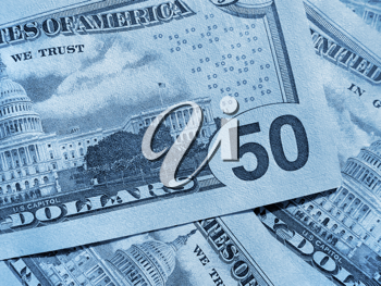 abstract blue money background from new dollars usa