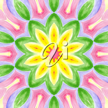 Bright background with abstract watercolor pattern