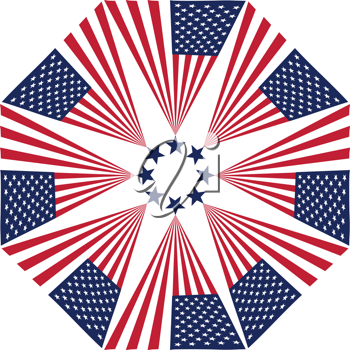 Royalty Free Clipart Image of an American Flag Design