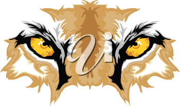 Royalty Free Clipart Image of Cougar Eyes