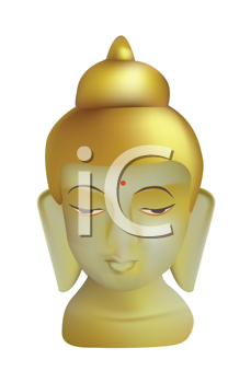 Royalty Free Clipart Image of a Buddha Sculpture