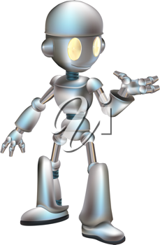 Royalty Free Clipart Image of a Robot