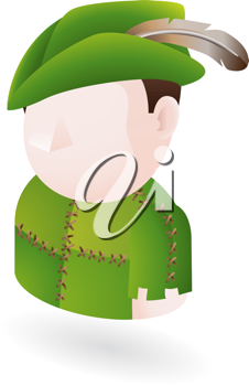 Royalty Free Clipart Image of a Robin Hood Illustration