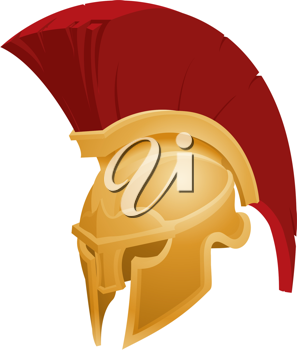 Royalty Free Clipart Image of a Spartan Helmet