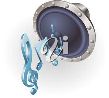 Royalty Free Clipart Image of a Music Speaker