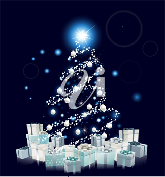 Royalty Free Clipart Image of an Abstract Christmas Background