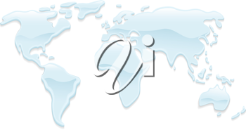 Royalty Free Clipart Image of a Map