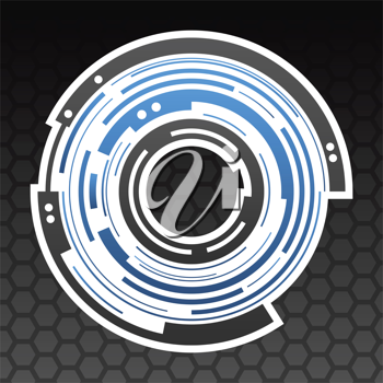Royalty Free Clipart Image of Concentric Gear Background