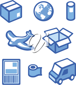 Royalty Free Clipart Image of an Icon Set