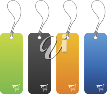Royalty Free Clipart Image of Shopping Price Tags