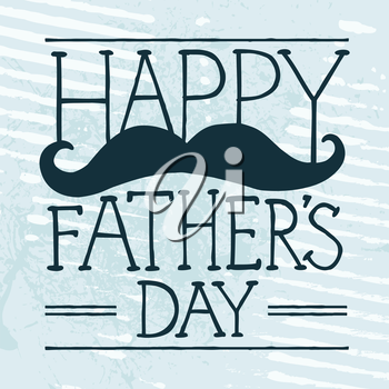 Father's Day text illustration with hand-drawn moustache