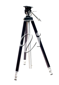 Close-up of a tripod isolated over white