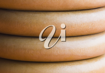 Close-up of a stack of curtain rings