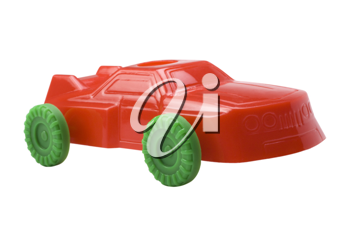 Close-up of a toy car