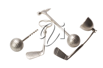 Close-up of golf bar set