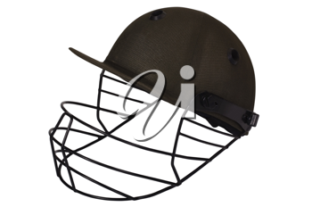 Close-up of a cricket helmet