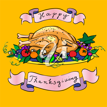 Royalty Free Photo of a Happy Thanksgiving Illustration