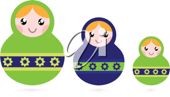 Royalty Free Clipart Image of Nesting Dolls