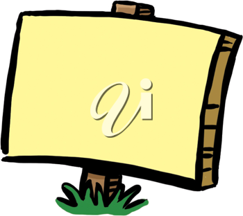 Royalty Free Clipart Image of a Blank Sign