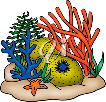 Royalty Free Clipart Image of a Underwater Plants