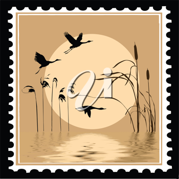 Royalty Free Clipart Image of a Postage Stamp