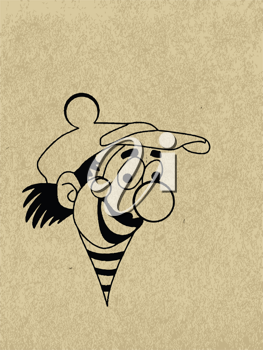 Royalty Free Clipart Image of a Clown