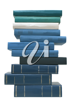 Books on a white background.