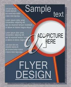 Brochure print your business, EPS10 - vector graphics.