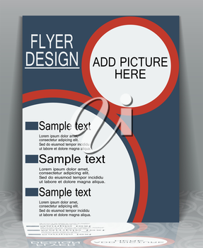 Abstract modern trendy design flyer business, EPS10 - vector graphics.
