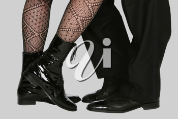 Royalty Free Photo of a Man and Woman's Legs